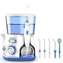 Waterpulse Dental Flosser V300 Oral Irrigator 800ml Dental Irrigator Water Jet Powerful Flosser or 5Pcs Replacement Tip