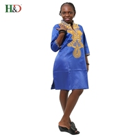 H D Dashiki African Cotton Dresses Top Bazin Dress For Women African Traditional Private African Custom