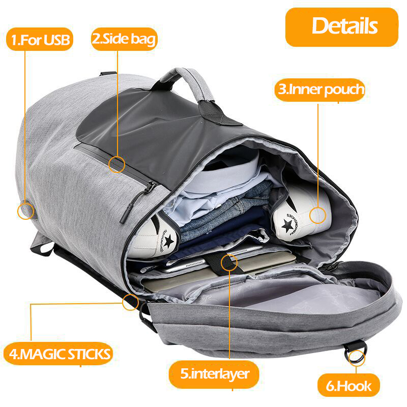 35L Gym Bag Multifunction Men Sports Bags Woman Fitness Bags Laptop Backpacks Hand Travel Storage Bag With Shoes Pocket Traning