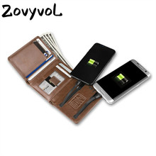 ZOVYVOL 2019 New Men Women Smart Wallet With USB for Charging Ipone  Android Capacity 4000 mAh For Travel PORTABLE