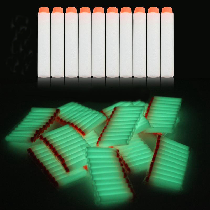 Luminous Foam Soft Bullets Toy Gun Darts for Nerf Refill Darts 7.2cm Fluorescence Universal Blasters for N-strike Elite Series