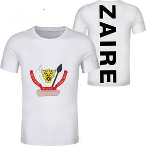 Image 5 - ZAIRE male youth custom made name number zar casual t shirt nation flag za congo country french republic print photo clothes