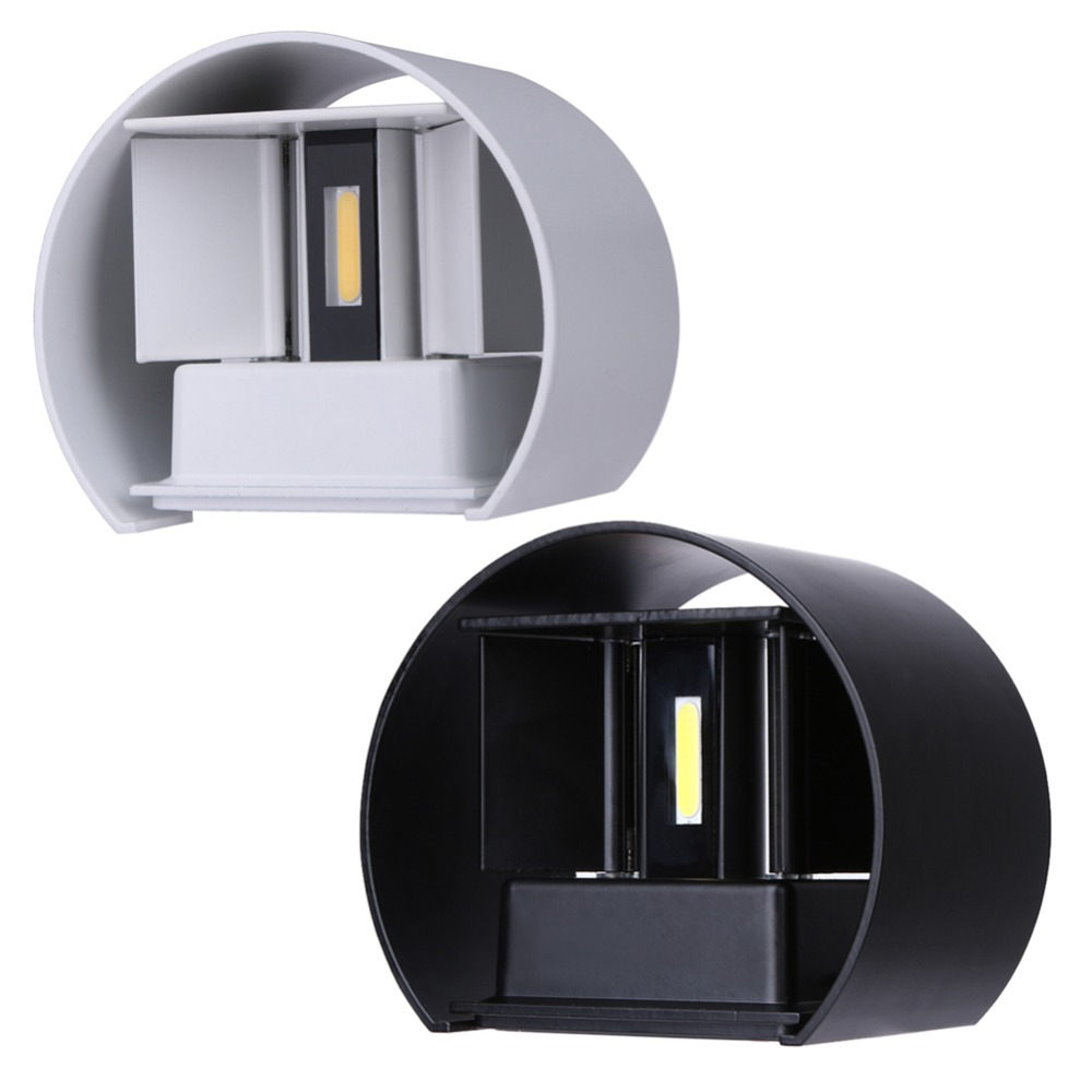 2017 New Arrival 7w Led Outdoor Wall Lamps Porch Lights Exterior Round Sconce Lighting Lantern Light Fixture With 2 Cob Chips