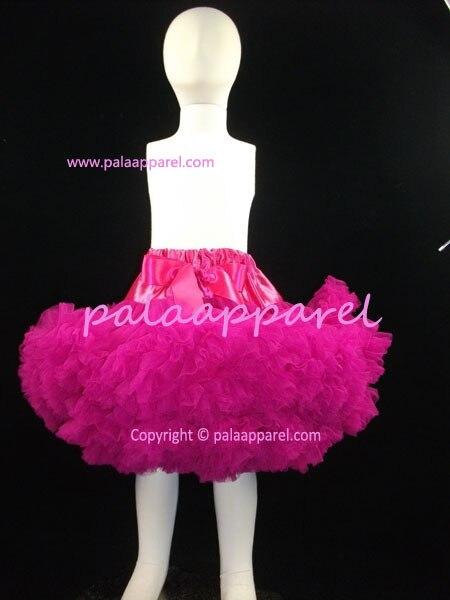 3-слойная шифоновая пачка Великолепный мягкий объемная юбка-пачка Pettiskirt Deluxe Многослойные детские юбки для маленьких девочек Детская poto реквизит - Цвет: plum