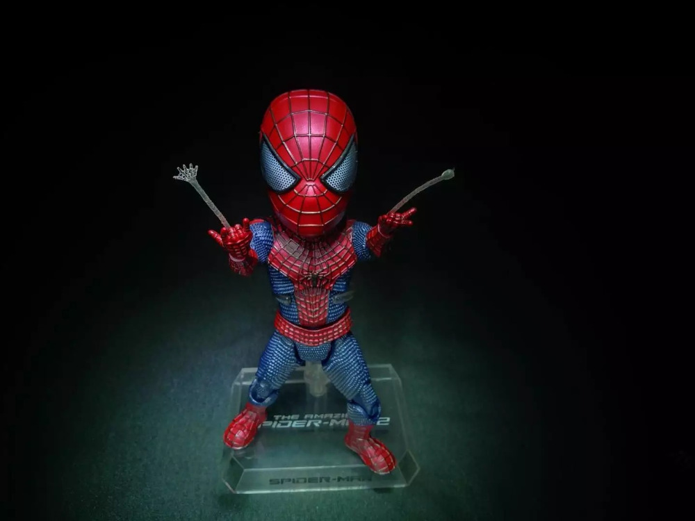 The Amazing Spider-Man 2 Marvel Super Hero Spider Man Peter Parker Cute Egg Attack Action EAA-001 18CM Action Figure amazing spider man worldwide vol 6