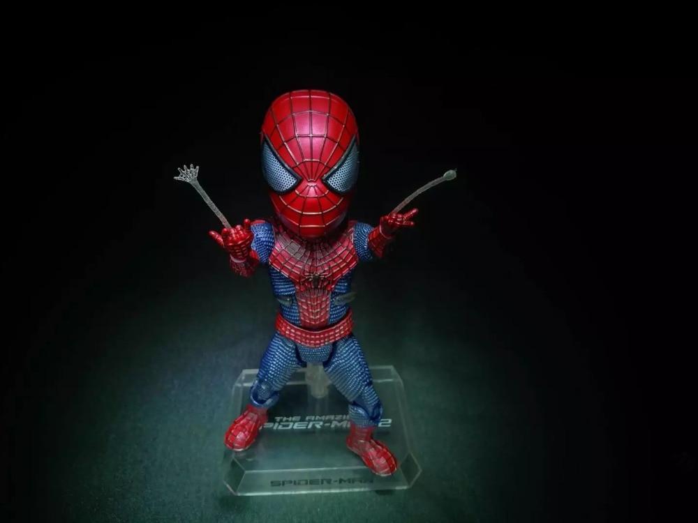 The Amazing <font><b>Spider</b></font>-<font><b>Man</b></font> 2 Marvel Super Hero <font><b>Spider</b></font> <font><b>Man</b></font> Peter Parker Cute Egg <font><b>Attack</b></font> Action EAA-001 18CM Action Figure