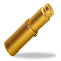 10x50 high magnification scalable big eyepiece hands free brass monocular telescope for outdoor viewing