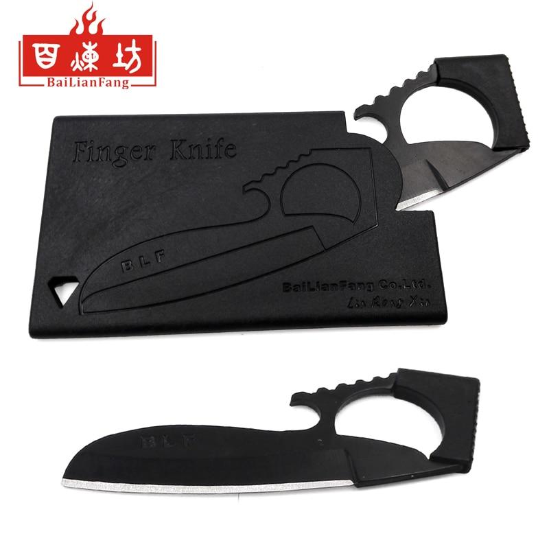 BLF parmak bıçak kredi kartı açık kart survival bıçak kamp cüzdan mini bıçak cep paslanmaz çelik moda el aletleri