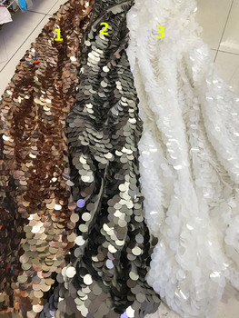 nice sequins French embroidered Lace Fabric best Quality ZH-1115 African Tulle Embroidered for wedding dress