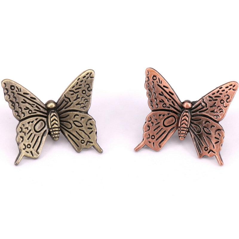 5 STÜCKE Dekorative Cabinet Hardware Schmetterling Schrank Schublade Knöpfe, antike Bronze Kinder Möbelknöpfe Und Griffe Dresser Zieht