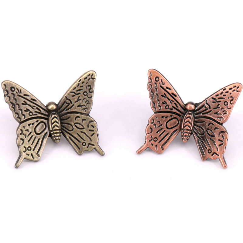 5pcs Decorative Cabinet Hardware Butterfly Cupboard Drawer Knobs Antique Bronze Kids Furniture Knobs And Handles