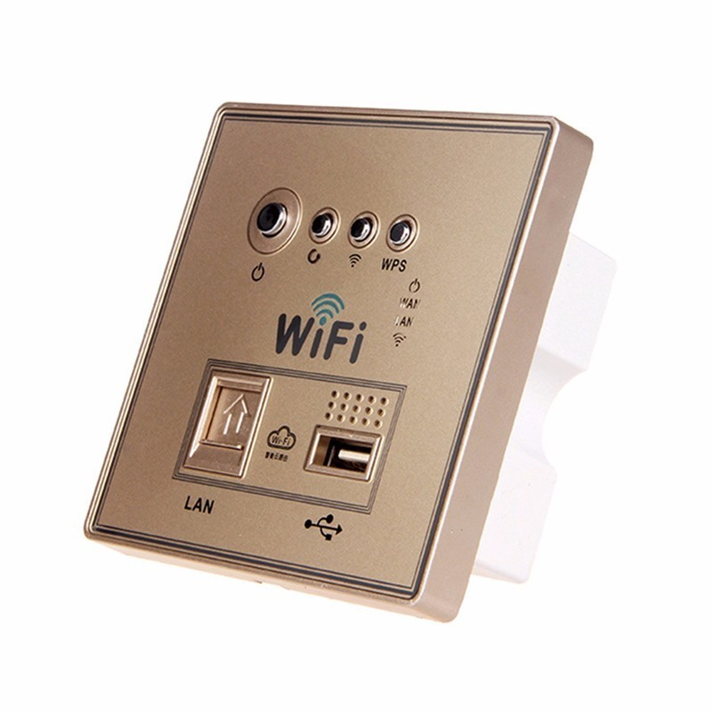 Image 5 - Home Smart Wall Socket Panel WiFi Router Repeater Home Intelligent Wireless Wifi Wall Sockets White/Gold/Black 1 Piece-in Electrical Sockets from Home Improvement