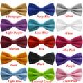 Fidedigno 16 Cores Bow Tie Para Os Homens Clássicos 2016 Gravata Gravata Laços Sólidos Dos Homens Da Novidade de Casamento Da Marca Smoking Ajustável # LSW