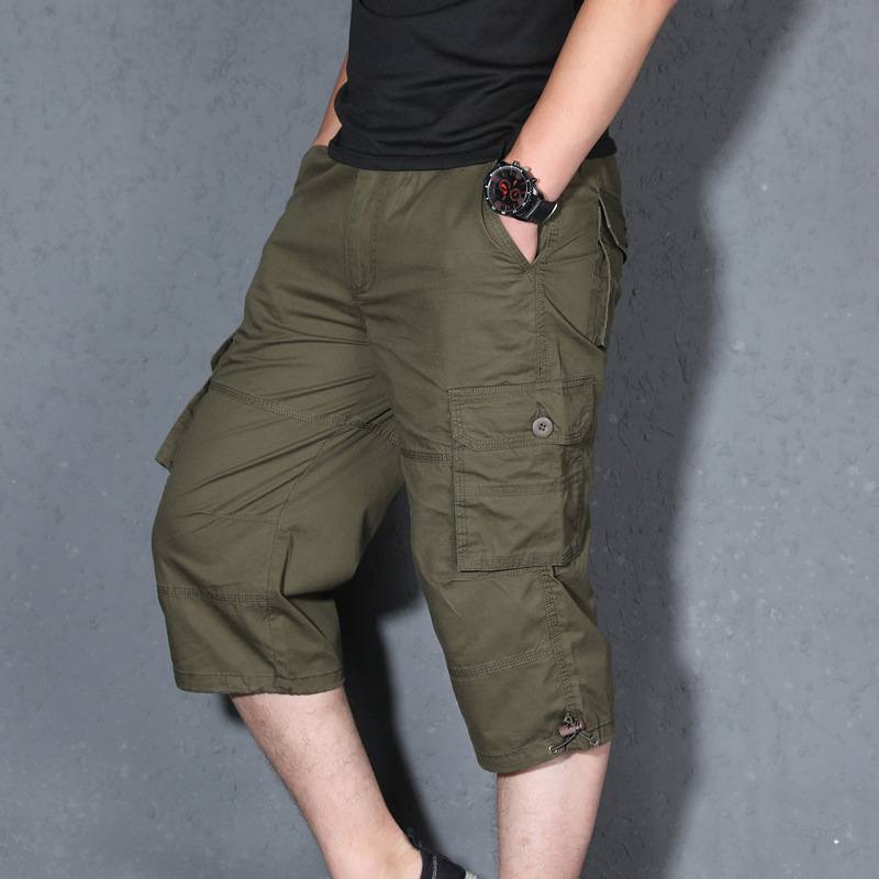 Outdoor Men Clmbing Camping Working Clothes Sport Male Hiking Trekking Walking Multi-pocket Anti-wear Half Trousers Shorts(China)
