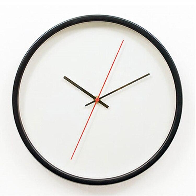 30cm Nordic Creative Metal Wall Clock Kitchen Study Mute Clock Wall Clock Modern Design Decorative Quartz Round Clock