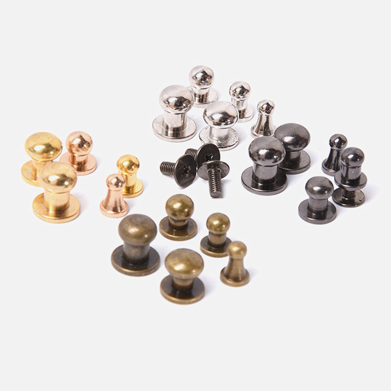 XUNZHE Rivets 20pcs Great Quality Copper Pacifier Nail Luggage Leather Metal Craft Solid Screw Nail Rivet Flank Strap Rivets