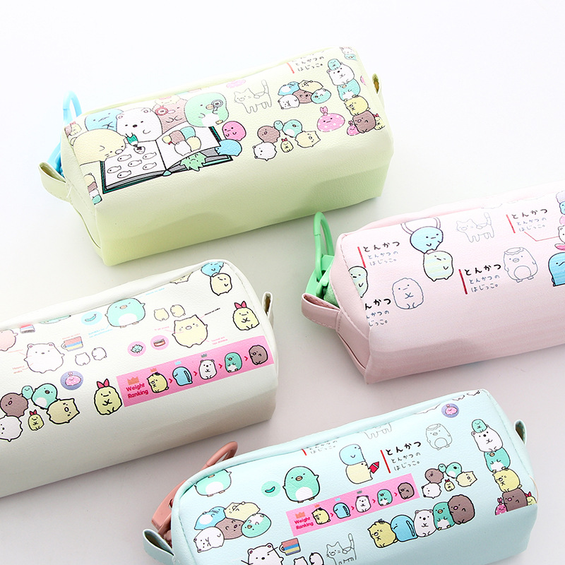 Cute Sumikko gurashi Pencil Bag for school Big capacity pencil case stationery pouch Estuche School Office Supply Zakka kawaii kitty melody twin star sumikko gurashi gudetama canvas big capacity pencil pen bag
