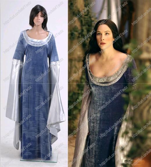 Здесь продается  Free shipping The Lord of the Rings Arwen Traveling Dress Costume blue dress  Одежда и аксессуары