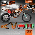 Customized Team Graphics & Backgrounds Decals 3M DHL Style Stickers Kits For  KTM  SX EXC XCF XC XCW SXF EXCF  MX ENDURO