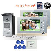 FREE SHIPPING 7 Color Screen Video Intercom font b Door b font Phone System two Recording
