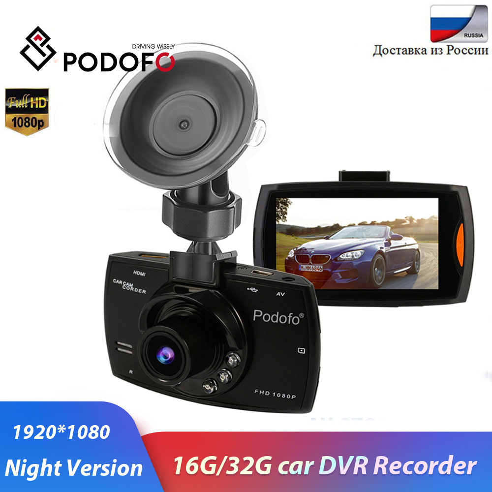 "Podofo Car Camera G30 Full HD 1080P 2.7"" Car Dvr Driving Recorder + Motion Detection Night Vision G-Sensor 32GB Dvrs Dash Cam"