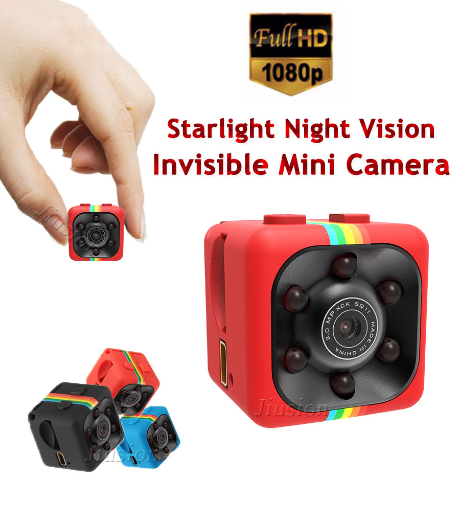 Full HD 1080 P Vision Nocturne Invisible Mini Caméra SQ11 DV DVR Vidéo Enregistreur Vocal Micro Cam Motion Sensor Action Sport caméscope