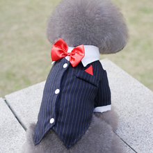 Pet Clothing Dog Cat Puppy Clothes Wedding Tuxedo Necktie Male Dogs Suits Small Swallowtail Suit for Teddy Chihuahua Clothing