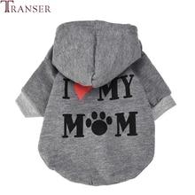 Transer Одежда для собак, толстовка с капюшоном с надписью «I LOVE MY MOM» для маленьких собак, щенков, спортивная одежда для отдыха 71205