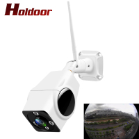 Holdoor Panoramic IP Camera Wireless Wi Fi Cam Surveillance Cameras Outdoor IP66 2MP with Audio Record Camcorder Fish Eye Home