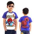 Alta Qualidade de Verão Crianças T-camisa camiseta meninos Spiderman roupa Dos Miúdos de Algodão Estilo de Moda de nova Dos Desenhos Animados Tees MS0012