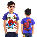 High Quality Summer Children T- shirt  boys t shirt Spiderman Kids clothes Cotton Fashion nova Style Cartoon Tees MS0012
