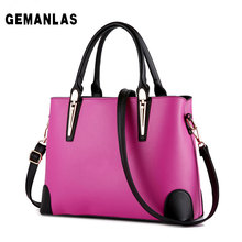 Size: 33 * 24 * 13cm high quality pu woman business handbag. 2017 new large-capacity solid color fashion shoulder bag.
