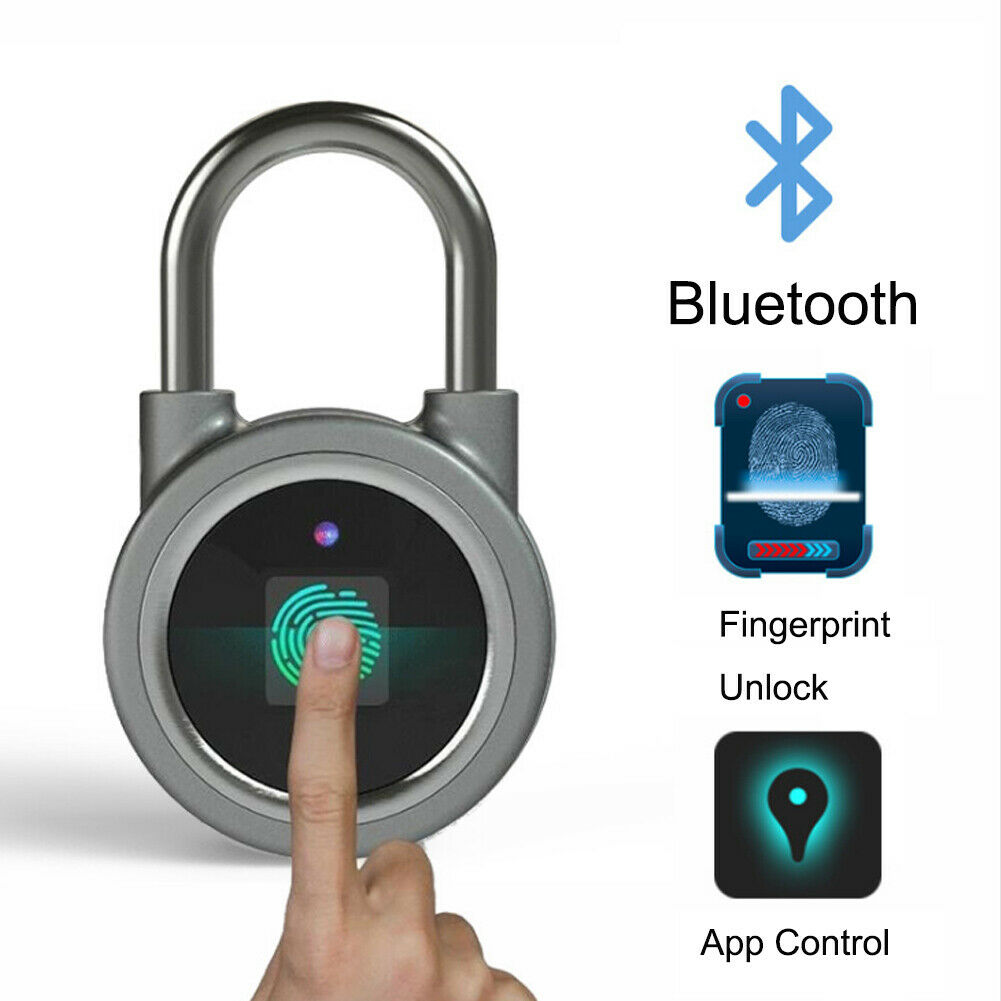 Bluetooth Padlock Electronic Wireless Security Lock Keyless APP Control Durable