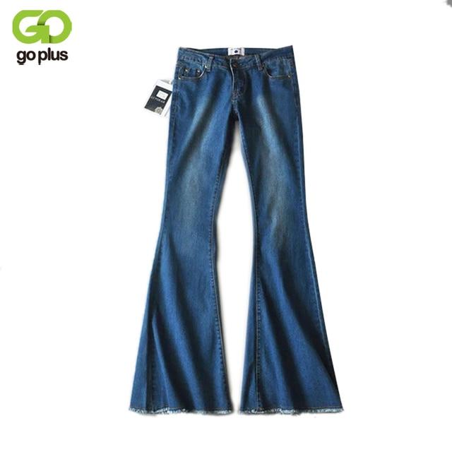 Us 4126 New Vintage Flared Nogi Mama Jeans Elastyczna Femme Niebieski Wiersz Krawędzi Bluzy Jeansowe Spodnie Szerokie Nogawki C3574 Skinny Jeans