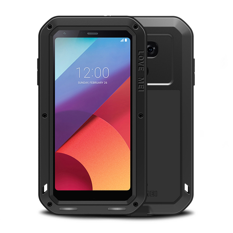 new style c3ffe 14aa9 For LG G6 Case Armor Metal Aluminum Rugged Shockproof Heavy Duty Full Body  Case For LG G6/G5 Case LGG5 LGG6 With Glass Cover