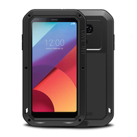 For LG G6 Case Armor Metal Aluminum Rugged Shockproof Heavy Duty Full Body Case For LG G6/G5 Case LGG5 LGG6 With Glass Cover