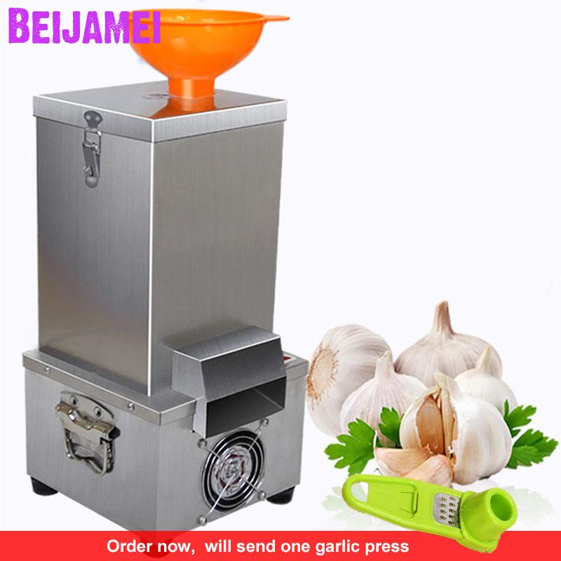BEIJAMEI 2020 New Arrival 24kg/h Stainless Steel 180w Commercial Garlic Peeling Machine Electric Garlic Peeler Price