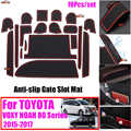 19 unids/set para TOYOTA Corolla NOAH 80 2015-2017 antideslizante coche puerta Interior ranura Mat de puerta ranura taza alfombrilla Auto Accesorios