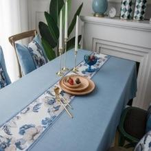 Home textile waterproof tablecloth pastoral wind imitation cotton linen the table cloth retro tea household rec