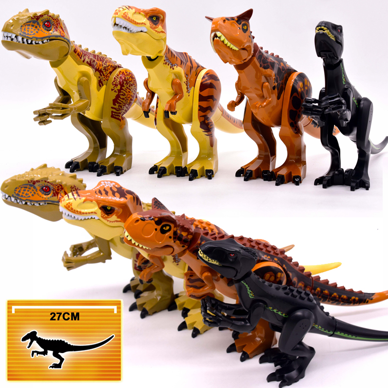 Brutal Raptor Building Jurassic Blocks World 2 MINI Dinosaur Figures Bricks Dino Toys For Children Legoed Dinosaurios Christmas(China)