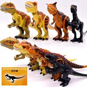 Image 1 - وحشية رابتور بناء كتل الجوراسي العالم 2 شخصيات ديناصور صغير الطوب دينو لعب للأطفال الديناصورات عيد الميلاد