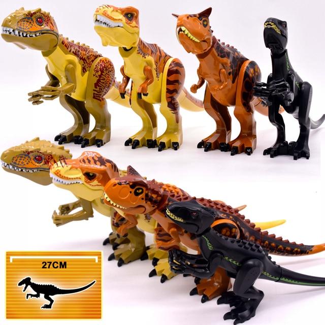 وحشية رابتور بناء كتل الجوراسي العالم 2 شخصيات ديناصور صغير الطوب دينو لعب للأطفال الديناصورات عيد الميلاد