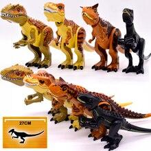 Acımasız Raptor yapı Jurassic blokları dünya 2 MINI dinozor rakamlar tuğla Dino oyuncaklar çocuklar için Dinosaurios noel