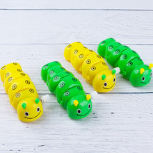 Toys Wind-Up Clockwork-Toy Plastic Kids Cute Caterpillar for Gifts Color-Random Funny