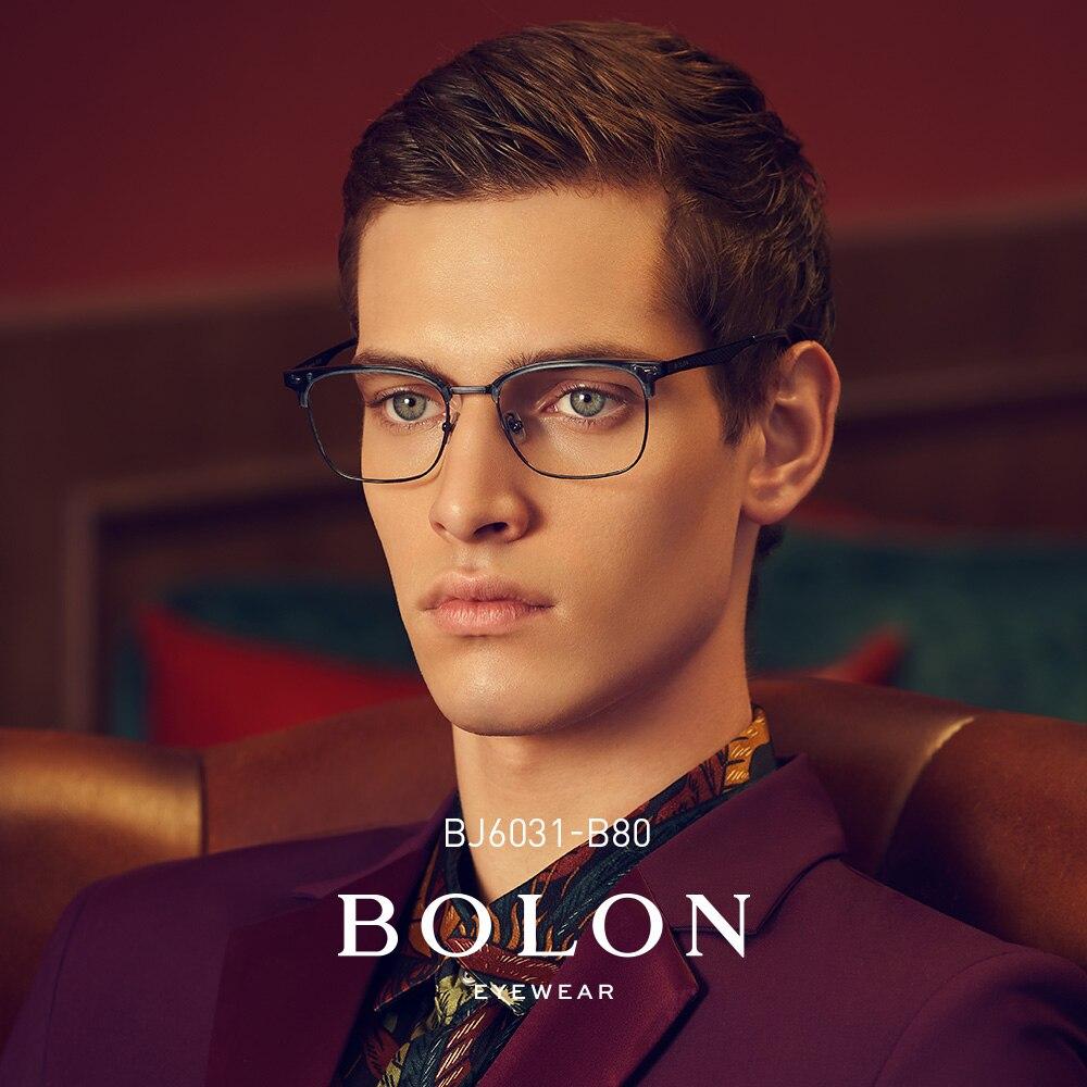 BOLON montures de lunettes hommes femmes lunettes de vue lunettes surdimensionnées en alliage de métal lunettes optiques cadres BJ6031
