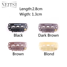 Neitsi 2.8cm U Shape Clips 4 Colors Stainless Steel Hair Snap for DIY Clip In Extensions Wigs Weft 100pcs/pack