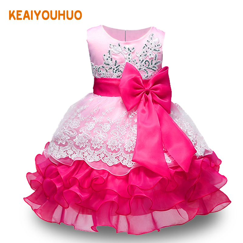baby embroidered formal princess dress for girl elegant