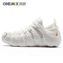 Onemix La Sra  Nueva Roma calza los zapatos del yoga suave, transpirable al aire libre zapatillas de deporte blancas duraderos