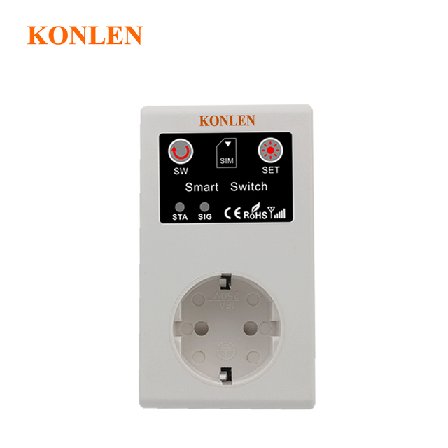 16a Eu Gsm Power Socket Remote Control Relay Smart Outlet Switch Sms