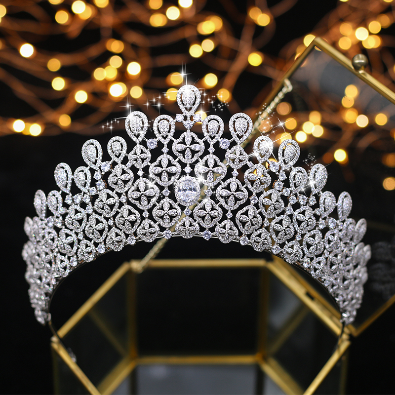 ASNORA Top quality princess oversized golden All zircon bridal Tiara Tiara Silver Crystal Wedding Hair Accessories маркер для доски centropen 8569 1ч 4 6 мм черный